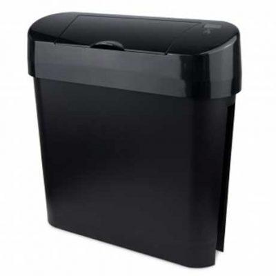 Automatic Feminine Hygiene Bin, ABS Plastic Black