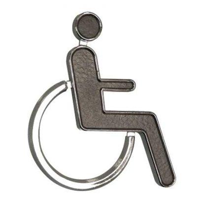 Black & Chrome 'Disabled' Sign