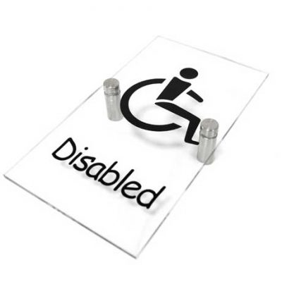 Clear Acrylic Disabled Sign