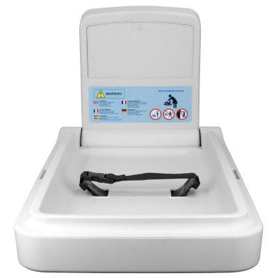 Horizontal Baby Changer, HDPE Plastic Cream White