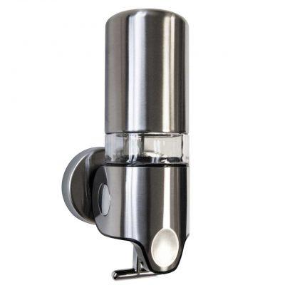 Silver Wall Mounted Bathroom Shower Dispenser Single