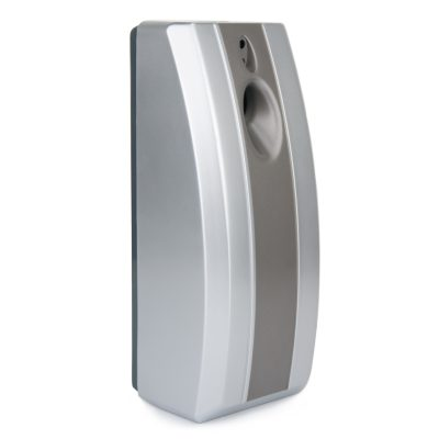 Stripy Automatic Air freshener, ABS Plastic Silver & Graphite