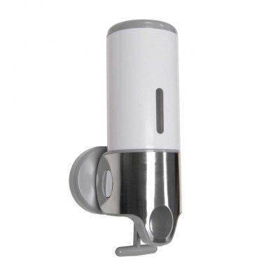 White Wall Mounted Bathroom Shower Dispenser Single
