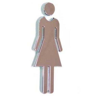 Chrome 'Ladies' Sign, ABS Plastic