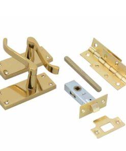 Internal Door Packs - Scroll - Brass
