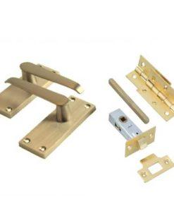 Internal Door Packs - Straight Lever - Brass