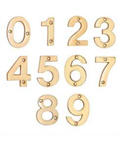 Door Numbers - Brass