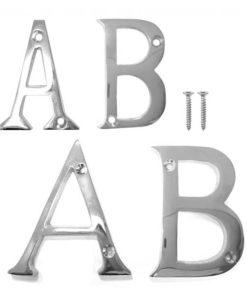 Door Letters - Chrome