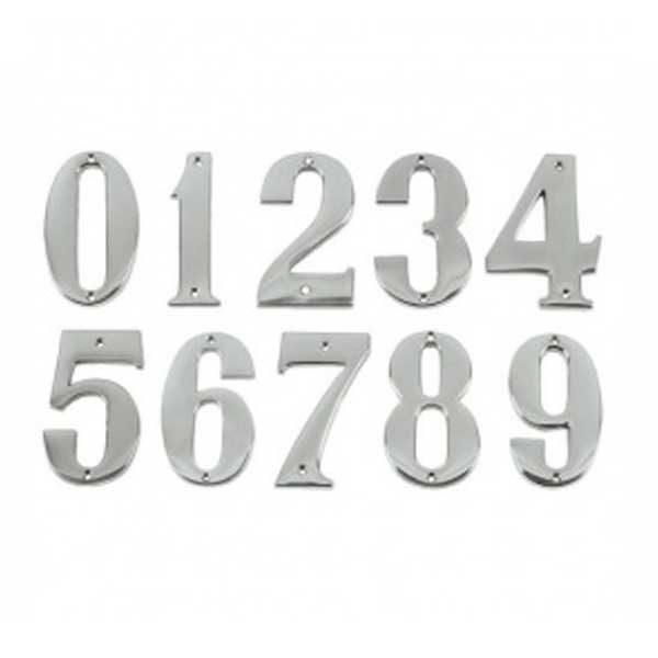 Door Numbers - Chrome  sc 1 st  Zepfix.com & Door Numbers - Chrome No. 4 | Zepfix.com