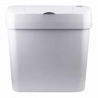 Automatic Feminine Hygiene Bin, ABS Plastic White