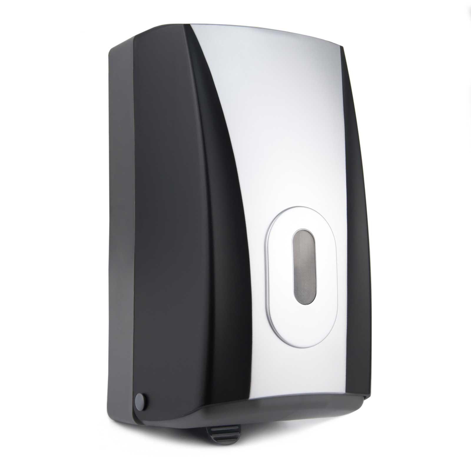 Interleaf Bulkpack Toilet Tissue Dispenser Black Silver