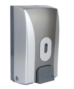 Push Button Bulk Fill Dispenser, ABS Plastic Silver/Graphite