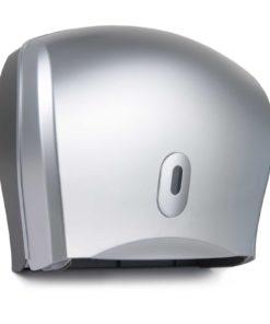 Twin Mini / Single Jumbo with Reserve Roll Dispenser silver