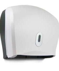 Twin Mini / Single Jumbo with Reserve Roll Dispenser white
