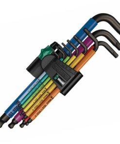 Wera 950 SPKL/9 SM N SB Multicolour L-Key Set - BlackLaser